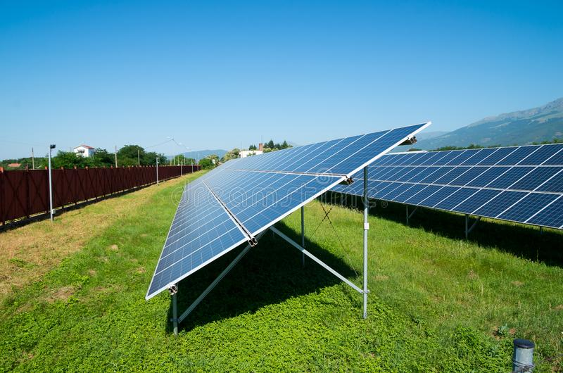 Солнечная электростанция стоковое изображение