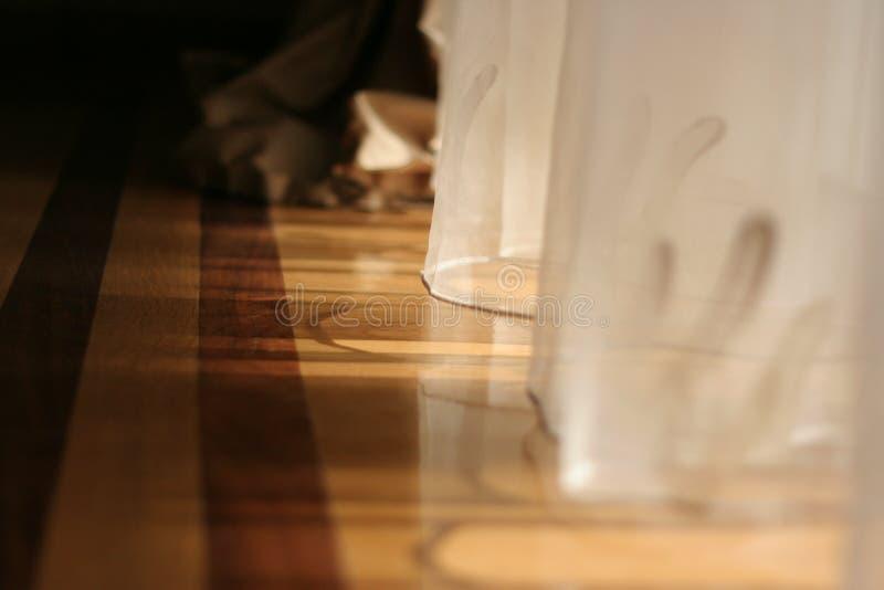 солнечний свет занавесов стоковая фотография rf