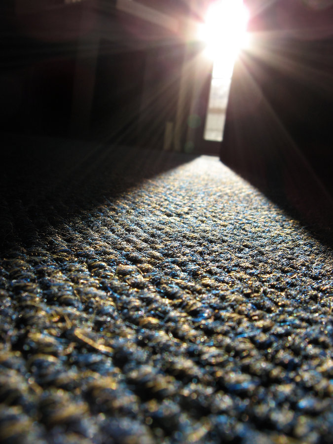 солнечний свет луча ковра стоковые изображения