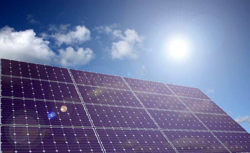 солнечний свет панели энергии солнечный иллюстрация штока