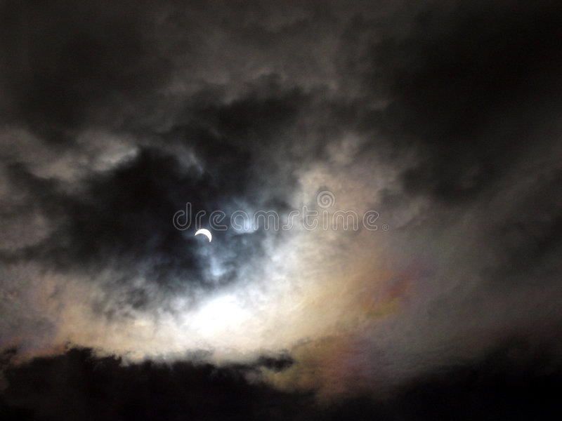 солнечное затмения частично стоковое изображение rf