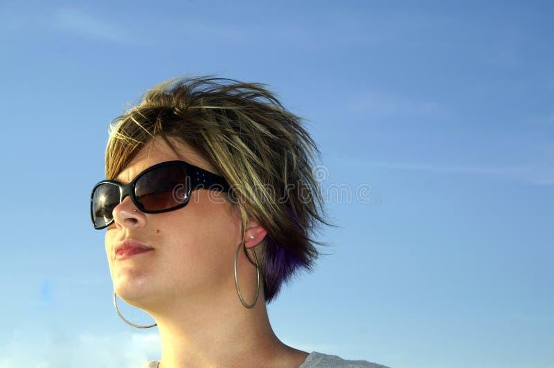 солнечность голубых небес стоковое фото