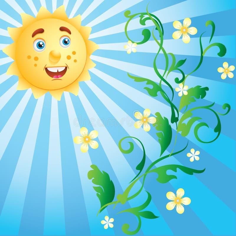 солнечность орнамента цветков иллюстрация штока