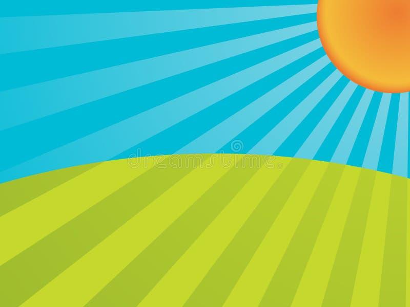 солнечность иллюстрация вектора