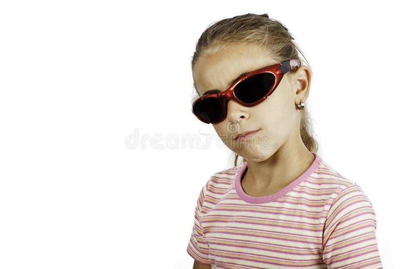 солнечные очки девушки маленькие стоковые фото