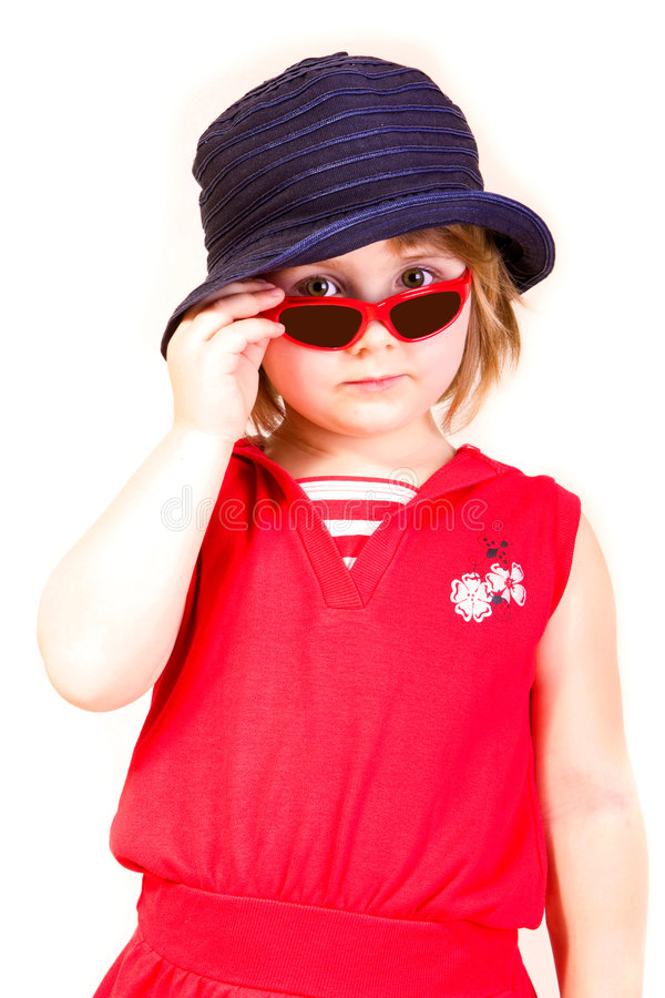 солнечные очки девушки маленькие стоковые фотографии rf