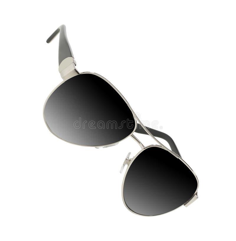 Солнечные очки изолировали белизну стоковая фотография