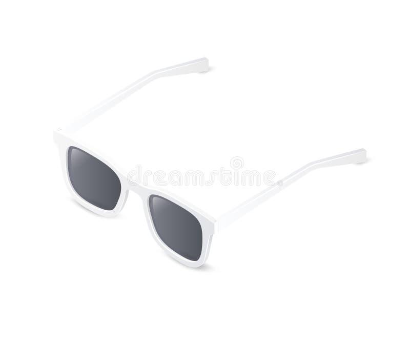 солнечные очки изолированные предпосылкой белые Равновеликая иллюстрация вектора иллюстрация вектора