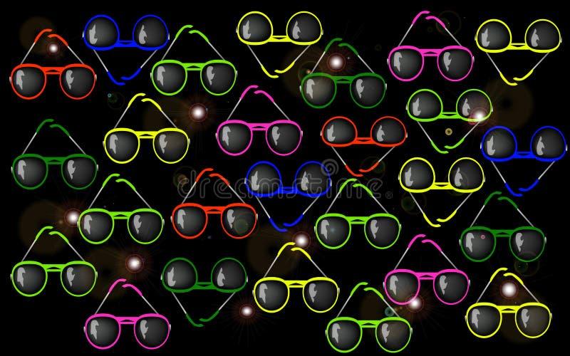 Солнечные очки предпосылки иллюстрация штока