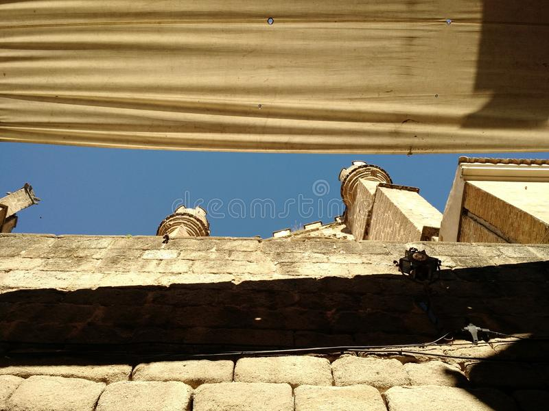 Солнечный день в Toledo, Испания стоковое изображение rf