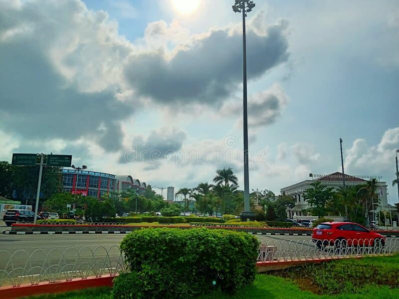 Солнечный день на взгляде Semarang от Tugu Muda, Semarang стоковые изображения rf
