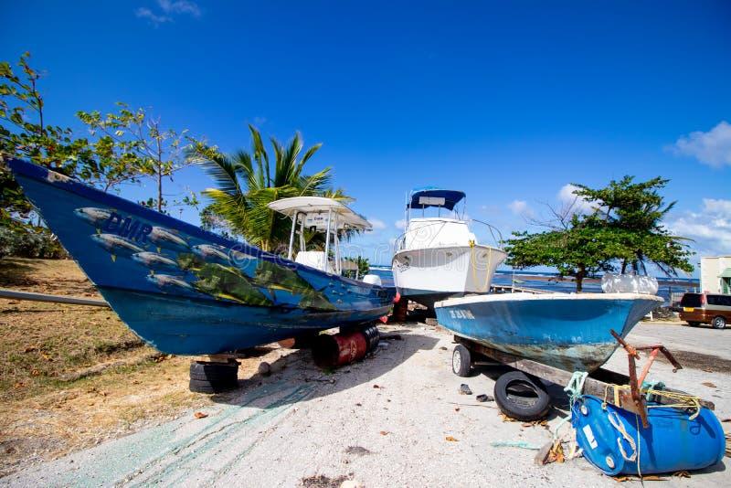 Солнечный день на заливе Conset, в St. John, восточное побережье Барбадос стоковое фото rf