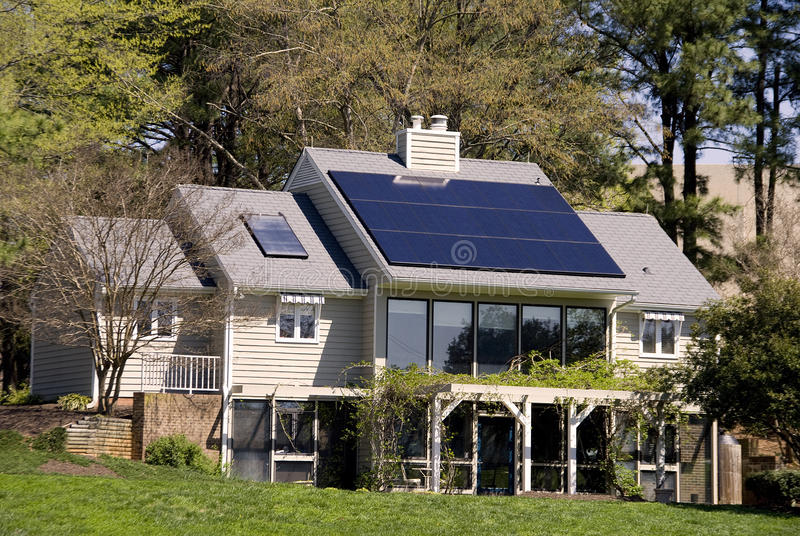 Солнечный дом стоковые изображения