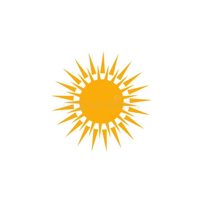 солнечный значок погоды Иллюстрация элемента логотипа солнечный дизайн символа погоды покрашенное собрание солнечная концепция по иллюстрация штока