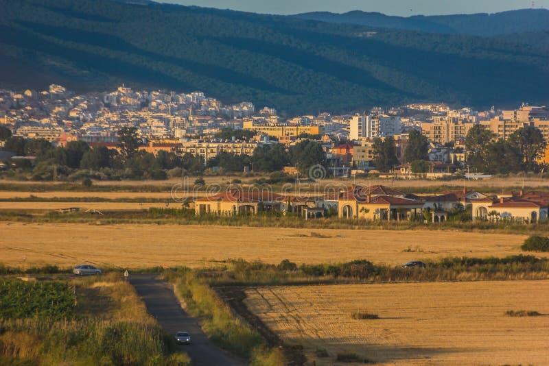 Солнечный пляж в Болгарии стоковые фото