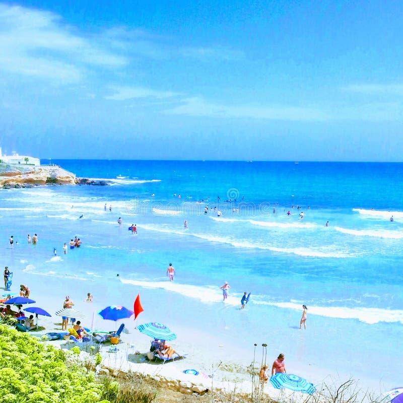Солнечный пляж Torrevieja стоковое изображение rf
