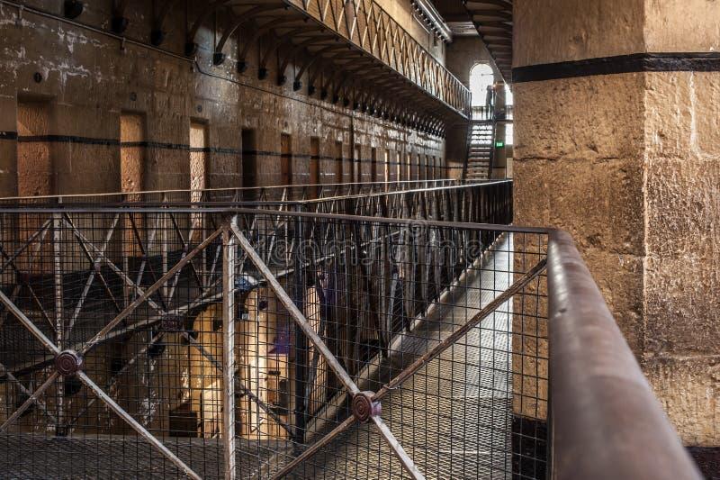 Солнечный свет тюрьмы Мельбурна стоковая фотография rf