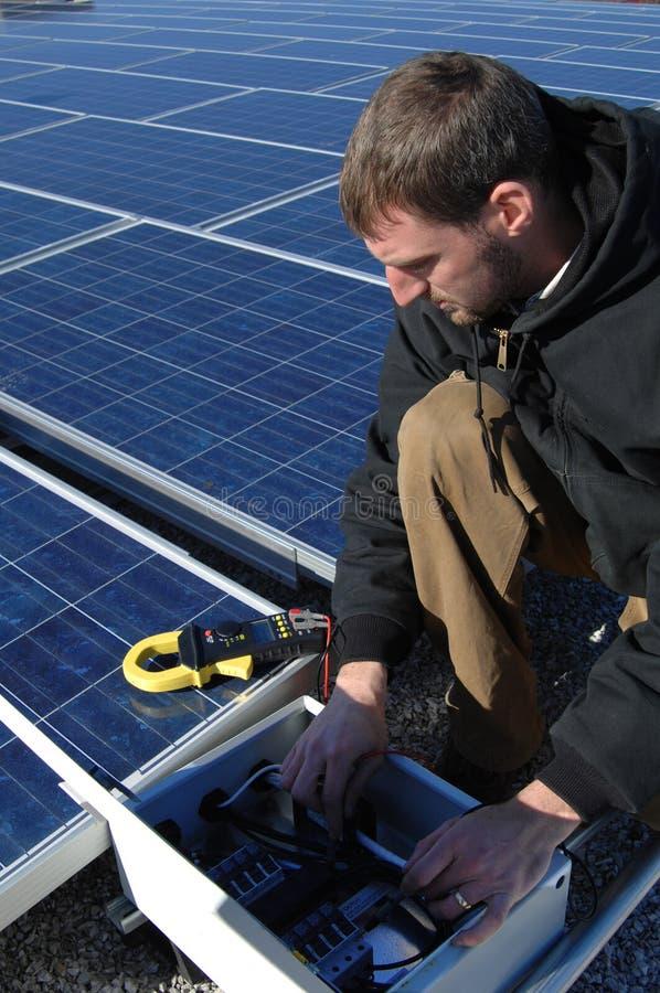 солнечный техник стоковое фото rf