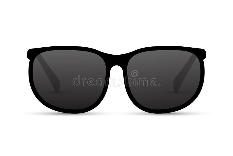 Солнцезащитные очки изолировали летнюю иллюстрацию Очки пляжа холодные глаза моды бесплатная иллюстрация