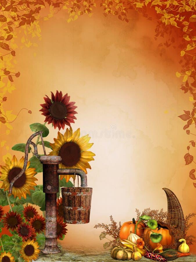 солнцецветы изобилия осени иллюстрация штока