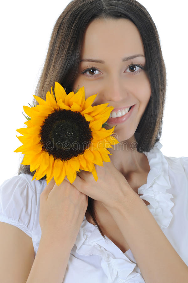 солнцецвет брюнет стоковое фото rf