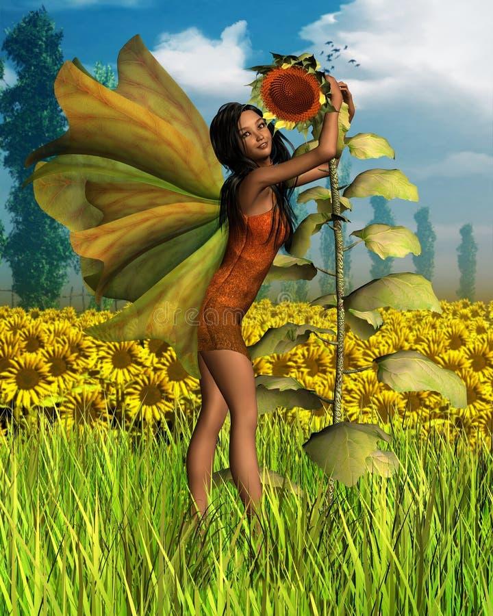 солнцецвет лета предпосылки темный fairy бесплатная иллюстрация