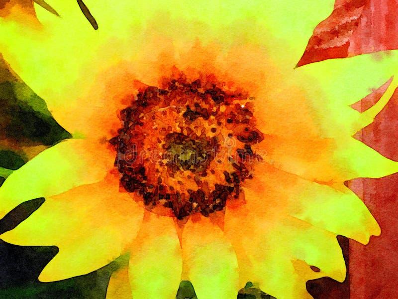 Солнцецвет над загородкой иллюстрация вектора