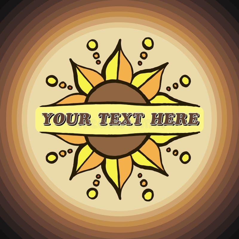 Солнцецвет цветка границы декоративного вектора линейный двойной бесплатная иллюстрация