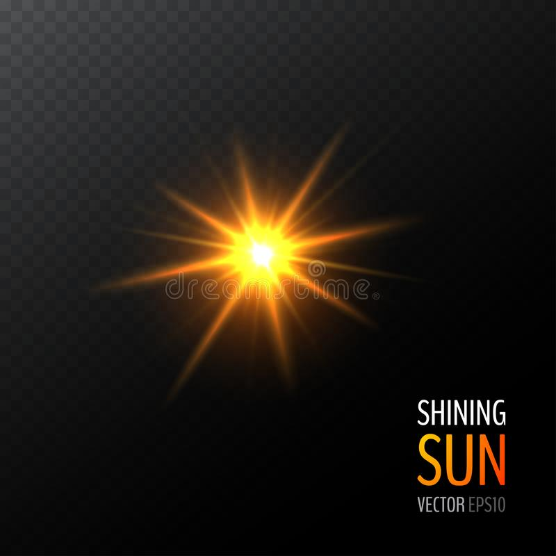 Солнце вектора светя иллюстрация штока
