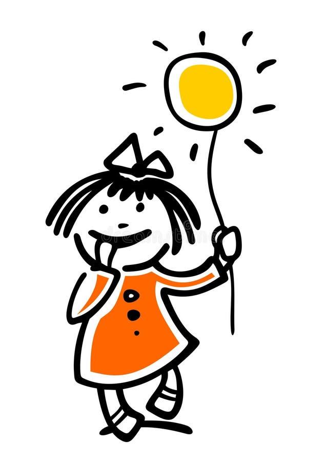 солнце девушки бесплатная иллюстрация