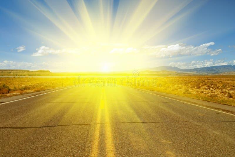 солнце дороги к стоковое фото rf