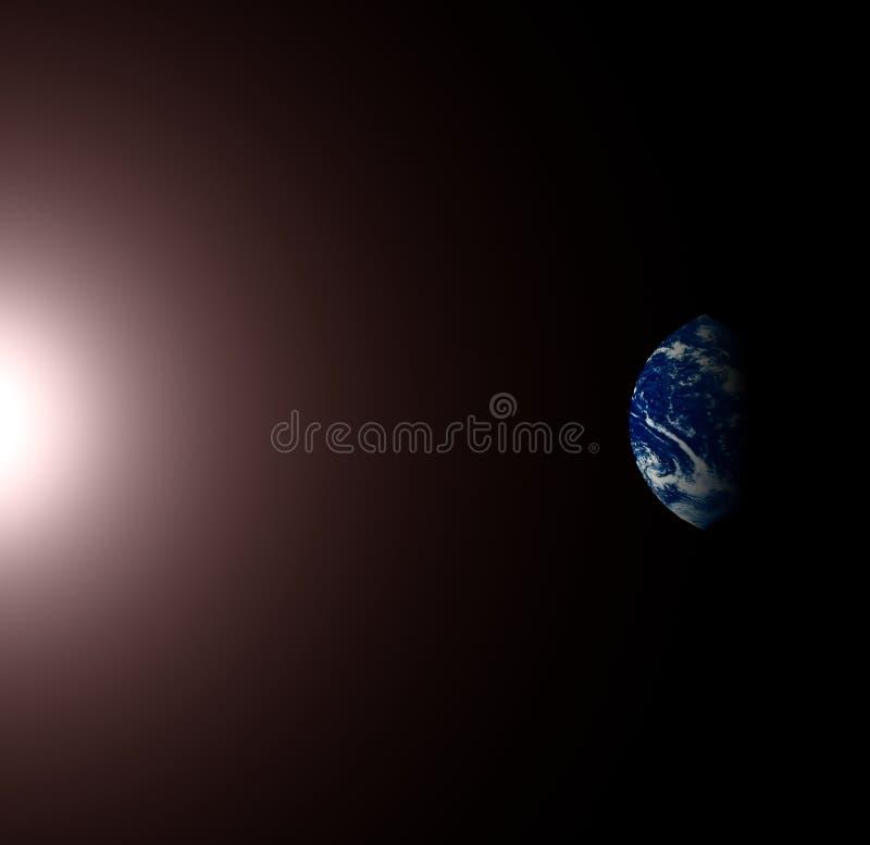 солнце земли стоковая фотография rf