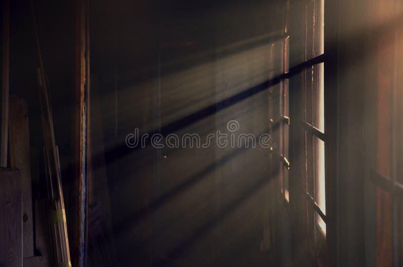 Солнце излучает лучи стоковые фото