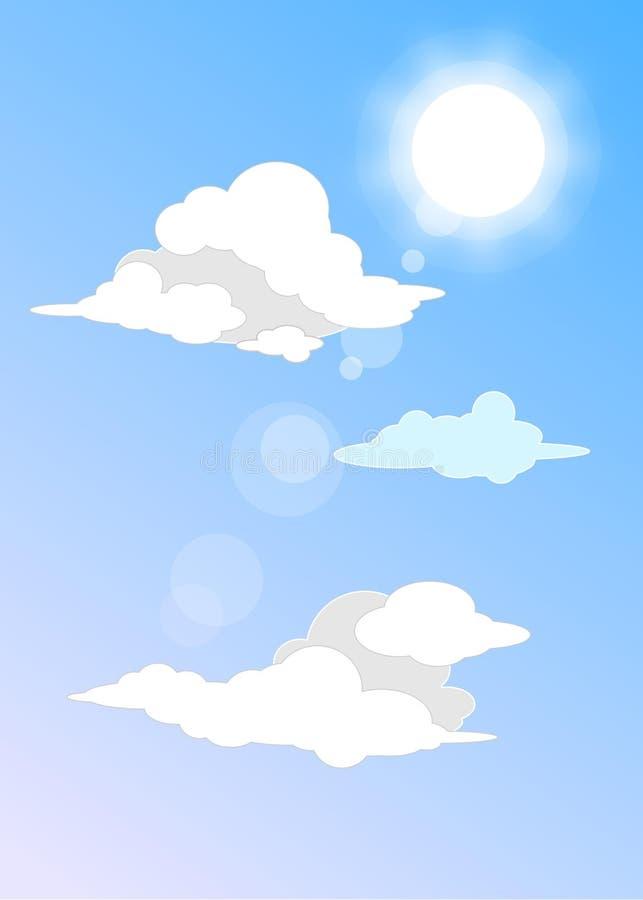 Солнце и облака стоковая фотография rf
