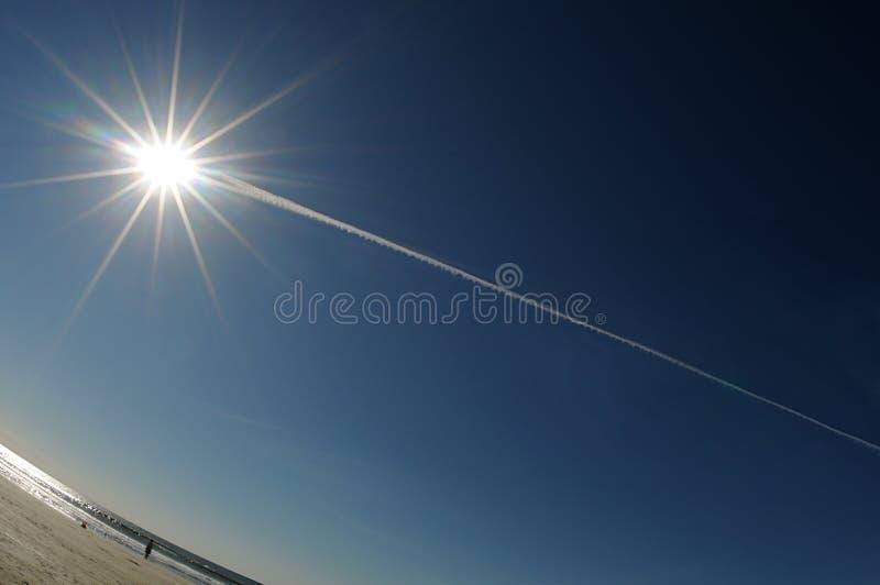 солнце кометы стоковое изображение