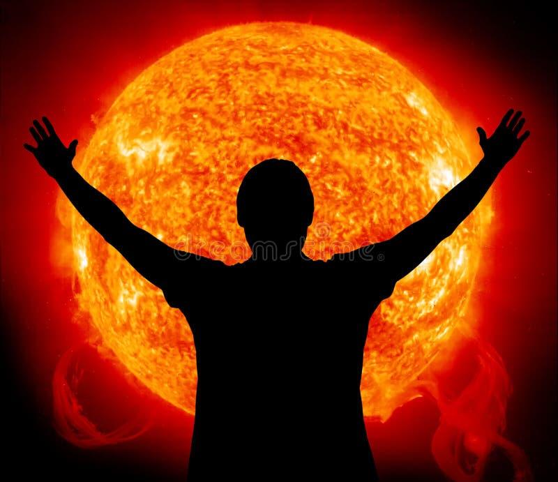 солнце, котор нужно поклониться стоковое изображение