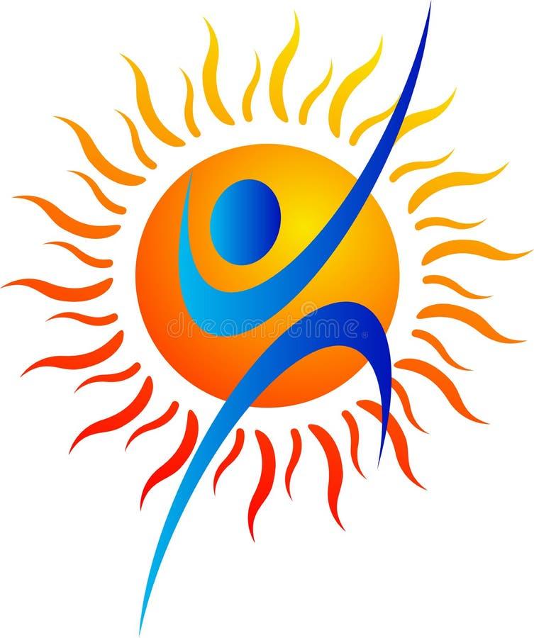 солнце логоса иллюстрация вектора