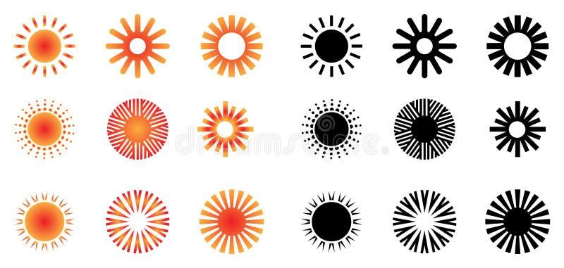 солнце логосов иллюстрация вектора