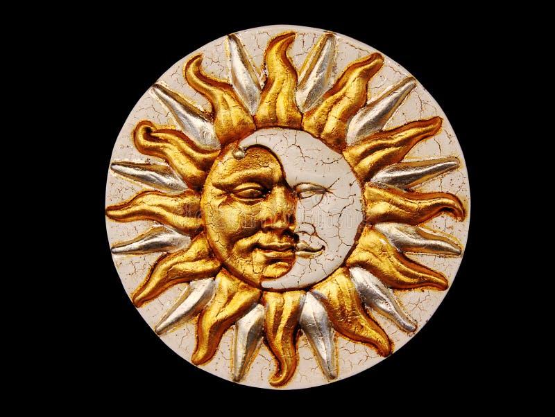 солнце луны маски стоковая фотография