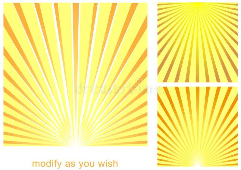 солнце луча предпосылки иллюстрация штока