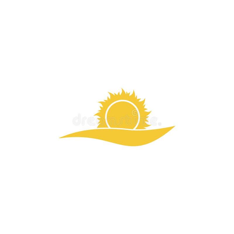Солнце, море, значок облака - вектор Простая концепция лета иллюстрации элемента Солнце, море, значок облака - вектор Вектор конц иллюстрация вектора