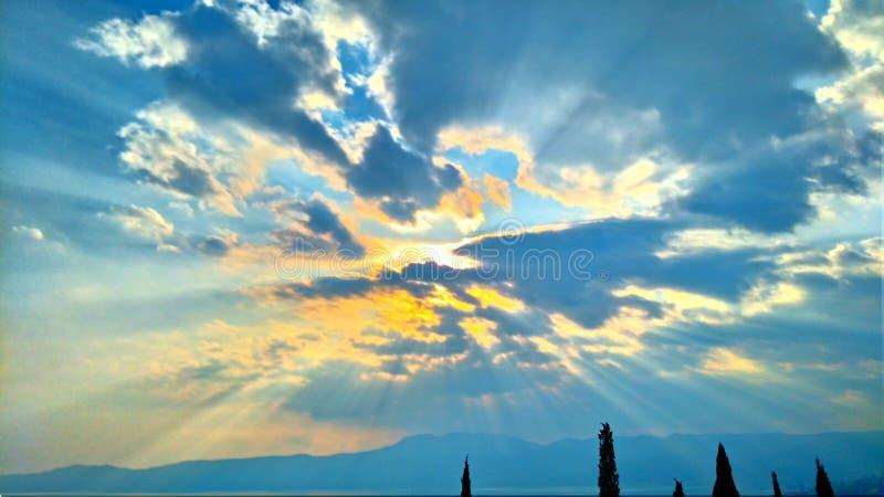 Солнце, море, Хорватия стоковое изображение