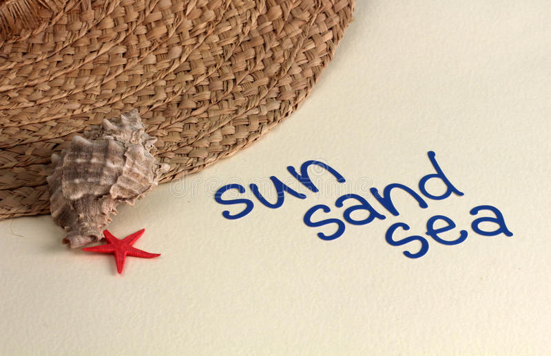 солнце моря песка стоковые фото