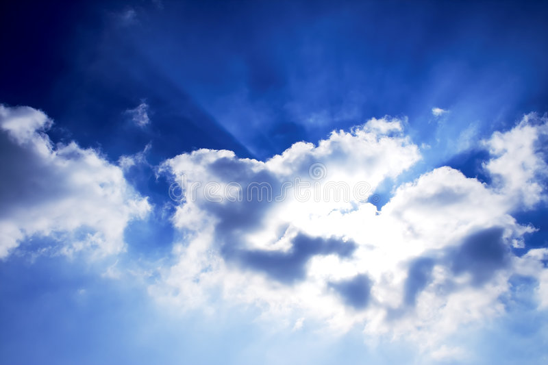 солнце облаков стоковая фотография rf