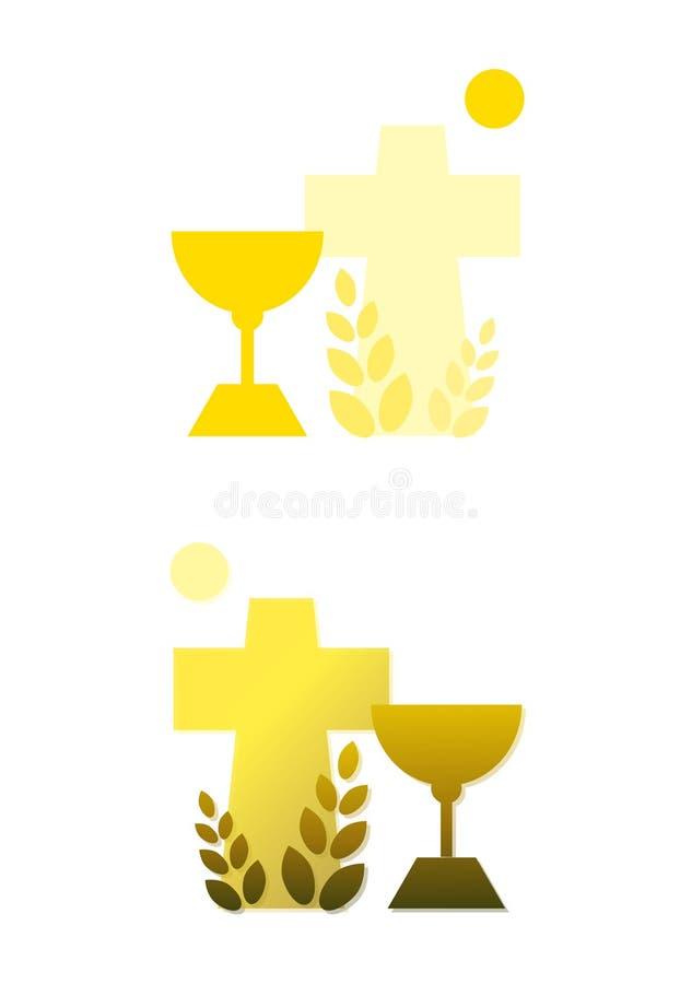 солнце перекрестного зерна chalice иллюстрация вектора