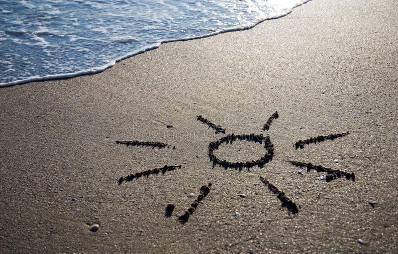 солнце песка плана влажное