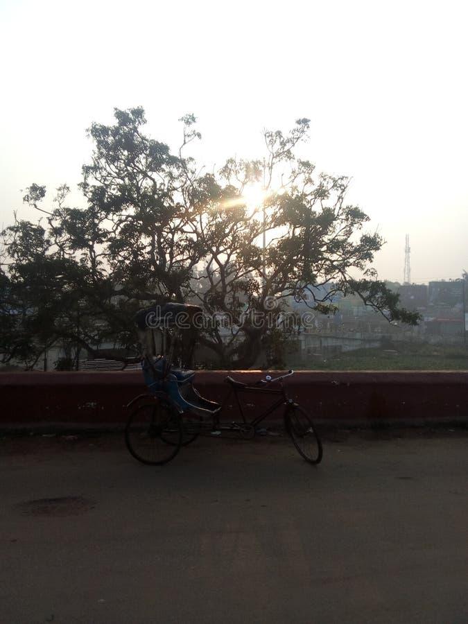 Солнце поднимает ослепляющ стоковая фотография