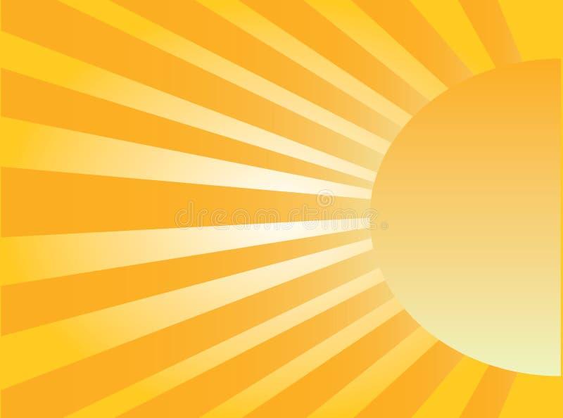 солнце подъема иллюстрация вектора