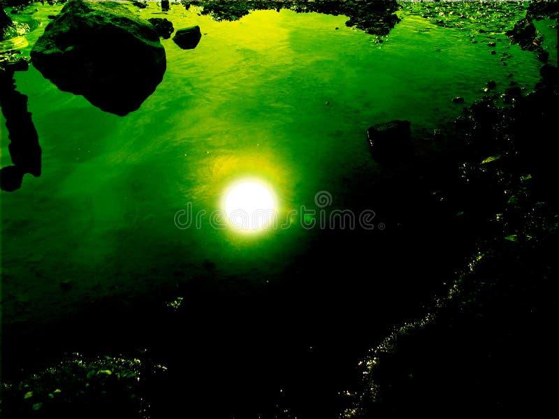 солнце под водой стоковые изображения rf