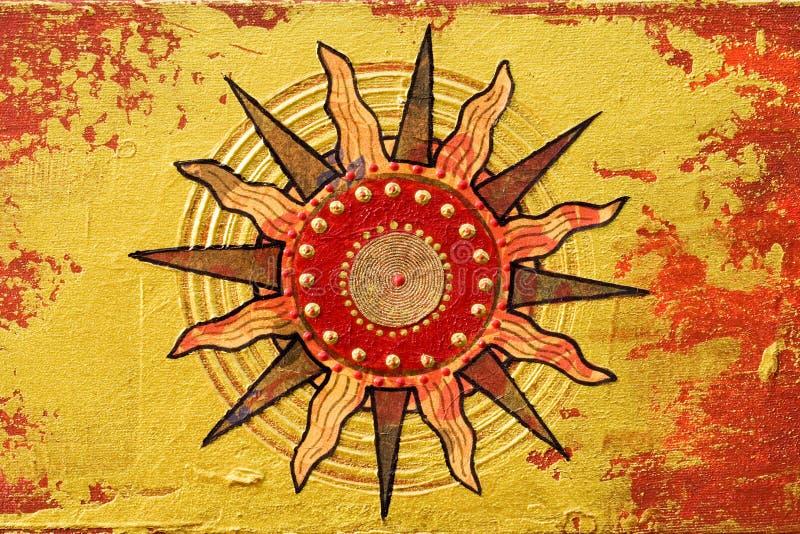 солнце произведения искысства иллюстрация вектора
